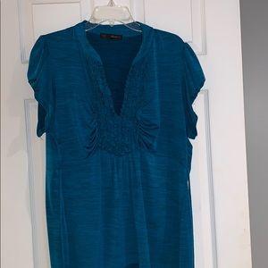 HeartSoul blue ruffled blouse